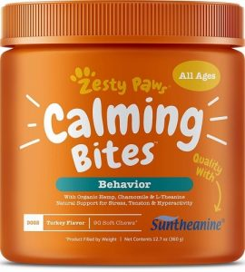Best Anxiety Supplements For Dogs - Zesty Paws Calming Bites