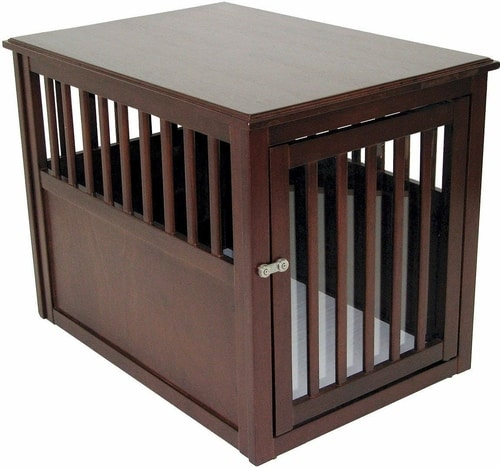 Best Dog Crate - Wood Pet Crate End Table
