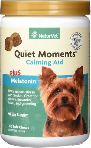 Best Natural Remedies For Dog Anxiety - NaturVet Quiet Moments Calming Aid Soft Chews