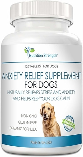 Best Natural Remedies For Dog Anxiety - Nutrition Strength Dog Anxiety Relief Supplement