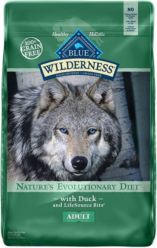 Best Dog Food For Anxiety - Blue Buffalo Wilderness High Protein Adult Dry Dog Food
